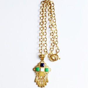 Chanel Multi Stone CC Fringe Necklace